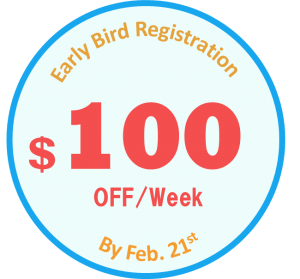 $100 discount by Feb. 21st